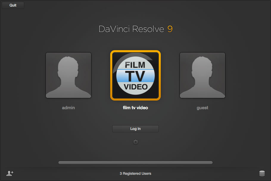 B_1112_Resolve9_02_Login_screen
