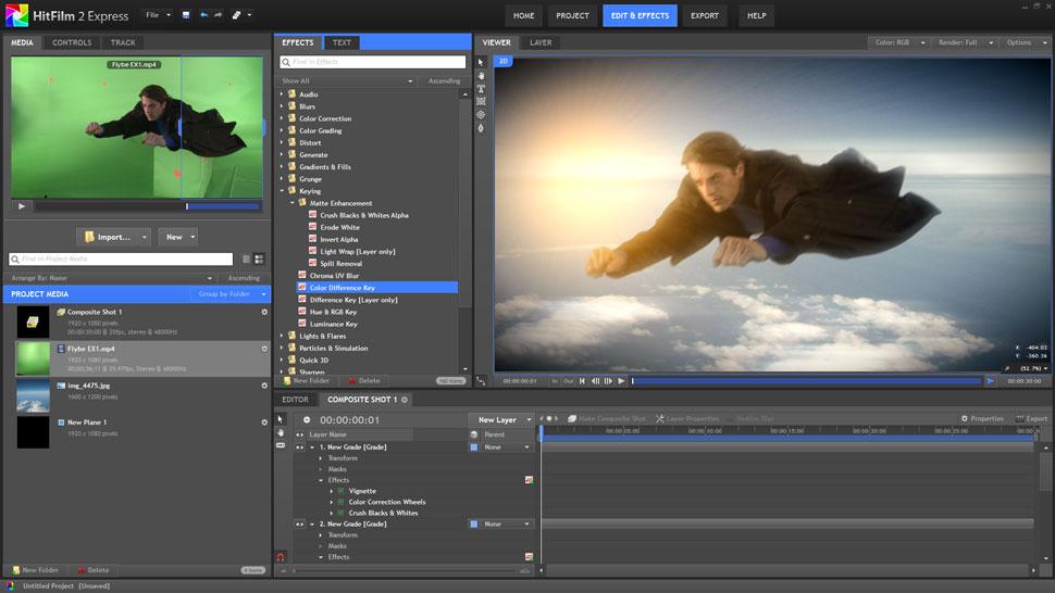 hitfilm 2 express zum gratis download   film tv video de