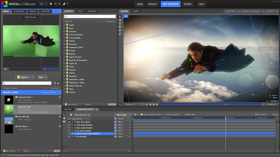 Hitfilm 2 Ultimate: VFX-Software mit Editing-Funktionen