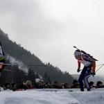 Sonne, Wind und Regen: Biathlon-WM 2012 in Ruhpolding