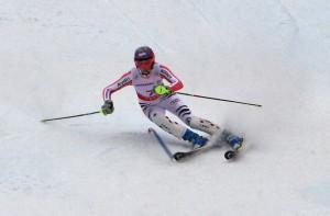 Skiprofi auf der Piste
