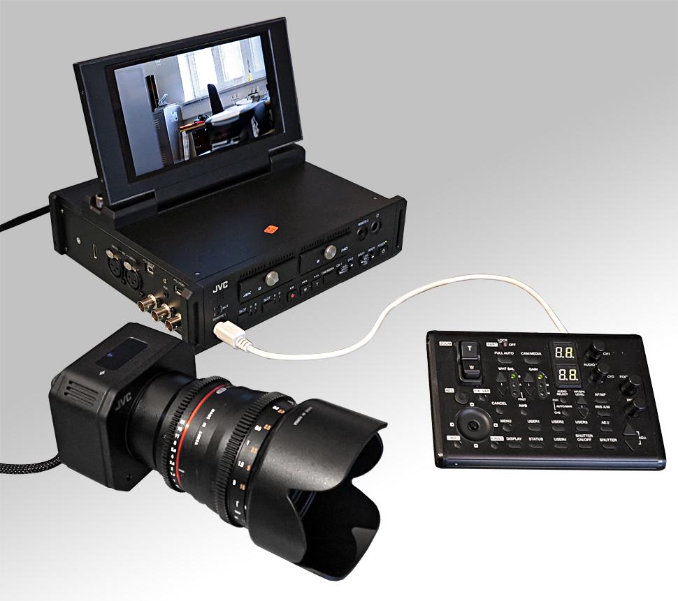 jvc gw sp100 4k aufzeichnung mit abgesetztem kamerakopf film tv. Black Bedroom Furniture Sets. Home Design Ideas
