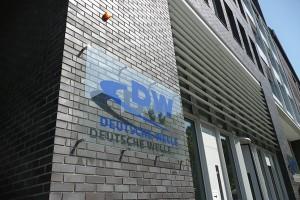 Deutsche Welle, Gebäude, Schild