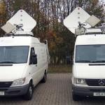 T-Systems: SNG-Fahrzeug für HD via Satellit