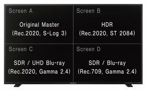 B_NAB16_Sony_HDR_PVM_X550_Split