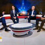 EM-Studio für SporTV am Eiffelturm