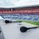 Riedel-Technik im Stadion von Olympique Lyon