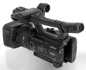 Camcorder Sony PXW-Z150, Totale von links hinten