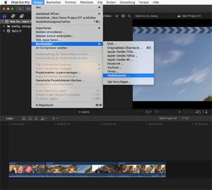 Medialoopster, Screenshot, FCPX