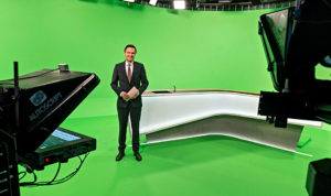 SWR Aktuell, Greenscreen, Studio