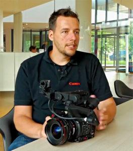 Marcel Heß, Produktmanager DACH, Canon, C200