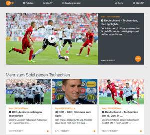 ZDF, Confed Cup, Website