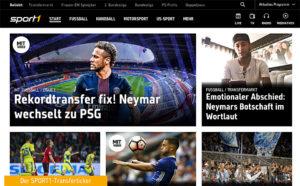 Sport1, Online-Screen