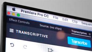 Digital Anarchy, Transcriptive, Premiere, Screen
