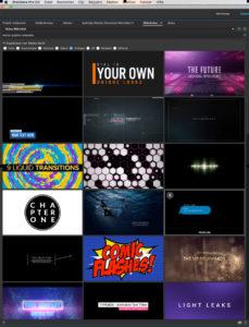 Motion-Graphics-Vorlagen, Adobe
