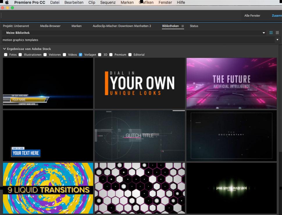 Motion-Graphics-Vorlagen nutzen - film-tv-video.de