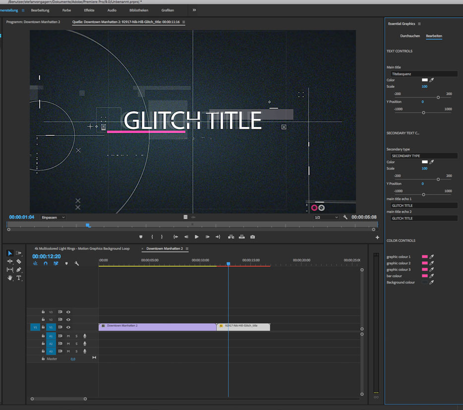 Motion-Graphics-Vorlagen nutzen - film-tv-video.de