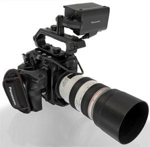 Kamera, Panasonic EVA1, Totale, Tele