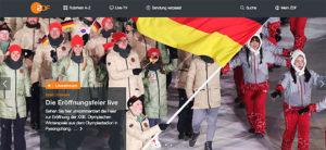 Pyeongchang, Olympische Winterspiele, ZDF