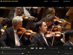 Berliner Philharmoniker, Screenshot iPad