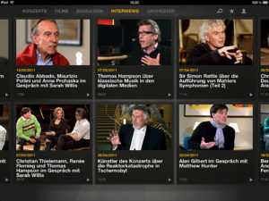 Berliner Philharmoniker, Screenshot