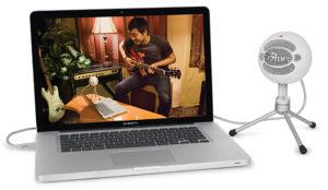 Blue, USB-Mikrofon, Snowball, Laptop