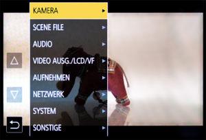 Handheld-Camcorder, AG-CX350, Panasonic, Menü-Screen, © Nonkonform