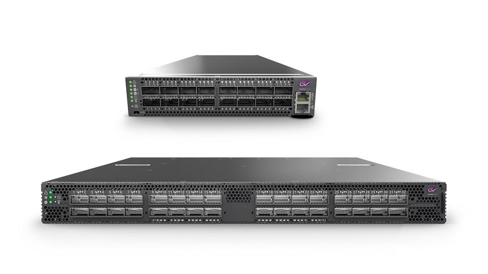 GV Fabric IP-switch in 1HE Full-Rack-Breite oder Half-Rack-Breite