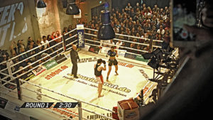 Kickboxen, Steko's Fight Night, NEP, Arri, 7Sports, On-Air-Bild