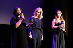 Smriti Kiran, Ursina Lardi, Saskia Rosendahl, Award Ceremony, 37. Filmfest München, © Filmfest München/Kurt Krieger