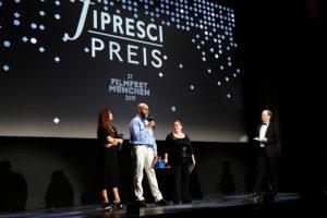 Giulia Dobre, Greg De Cuir, Yael Shuv, Michael Stadle, Award Ceremony, 37. Filmfest München, © Filmfest München/Kurt Krieger