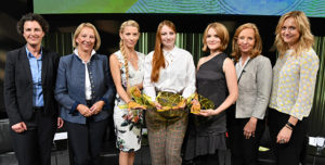 Preisträgerinnen, Gruppenbild © ARD/ZDF Förderpreis »Frauen + Medientechnologie« / Claudius Pflug
