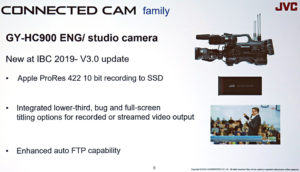 JVC, IBC2019, Connected Cam,