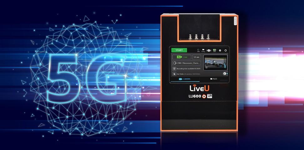 Die LU600 5G vereint interne 5G Modems und reichweitenstarke Antennen mit der 4K HEVC Übertragungstechnologie von LiveU