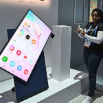 Hochkantfernseher von Samsung