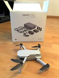 Mavic Mini, DJI, Drohne, Box