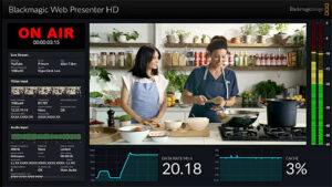 Blackmagic Web Presenter HD Monitoring
