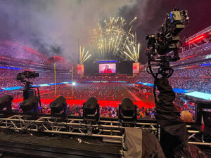 Super Bowl. The Weeknd, Newton Nordic, Railcam