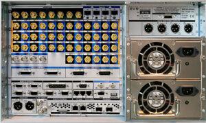 EVS, XT-Via-Server, SDI-Rückseite