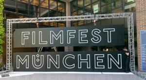 Filmfest München 2021, Gasteig, Schild