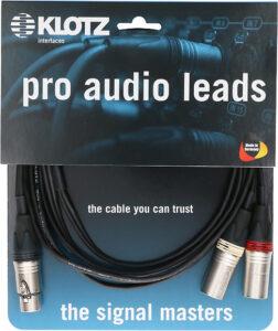 Klotz, Y-XLR-Adapter, Stereo-XLR-Adapter