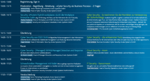 Agenda zum »IT Security Roundtable« von Arvato Systems