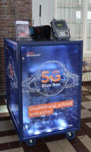Media Broadcast, Sendefunkstelle Nauen, Blue Box, 5G-Campusnetzwerk, © Nonkonform