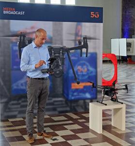 Media Broadcast, Sendefunkstelle Nauen, Daniel Wolbers, Drohne, 5G-Campusnetzwerk, © Nonkonform